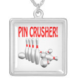 Pin Crusher Square Pendant Necklace