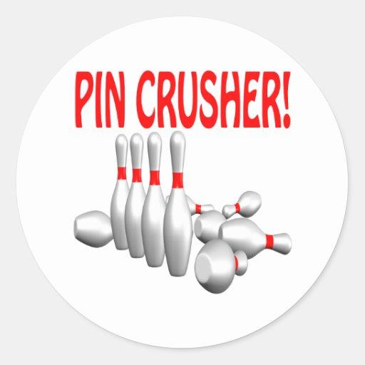 Pin Crusher Round Stickers