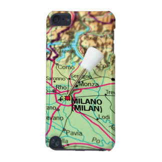 Pin Map of the city of Milan, Italy iPod Touch 5G Case
