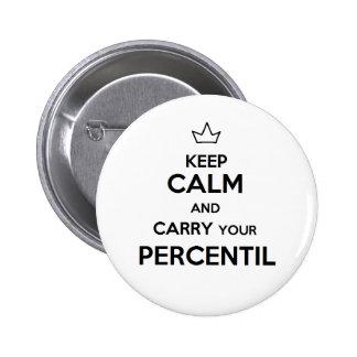 Pin of keep calm percentile