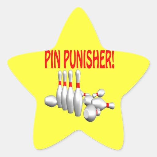 Pin Punisher Star Sticker