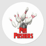Pin Pushers Bowling Round Sticker