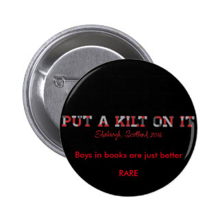 pin, RARE16, kilt, book boyfriend 6 Cm Round Badge