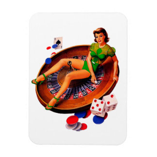 Pin Up Casino Girl Las Vegas Magnet