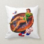Pin Up Casino Girl Las Vegas Pillow
