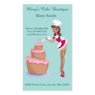 Pin Up Chef - Vertical Business card