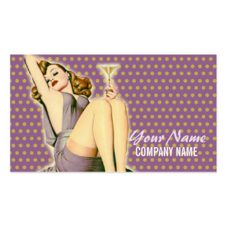 pin up girl  fashion salon SPA vintage beauty Pack Of Standard Business Cards