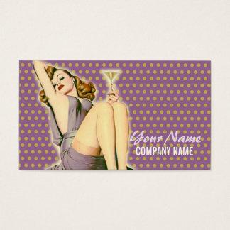 pin up girl Hair Stylist fashion SPA beauty salon Business Card