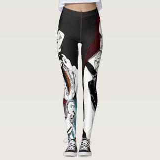 pin-up girl patchwork leggings