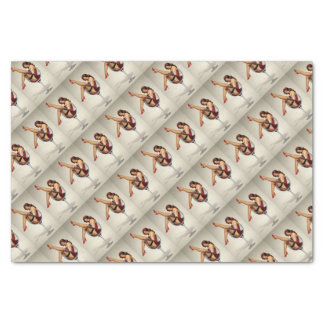 pin up girl tissue paper