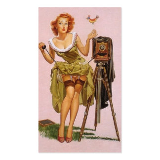Pin up Photographer Profile Cards Pack Of Standard Business Cards