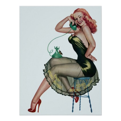 pin up poster zazzle. Black Bedroom Furniture Sets. Home Design Ideas