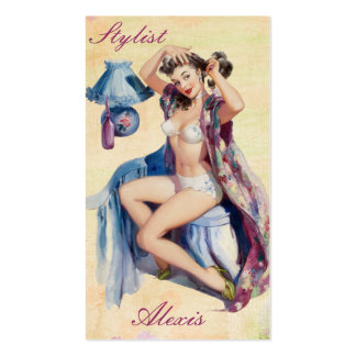 Pin up Stylist Profile Cards Business Card Templates