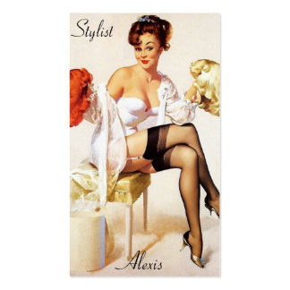 Pin up Stylist Profile Cards Pack Of Standard Business Cards