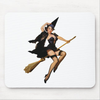 Pin-Up Witch Mouse Pads
