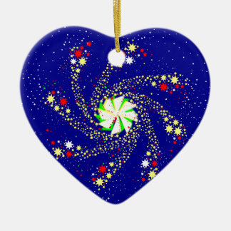Pin Wheel Ceramic Heart Decoration