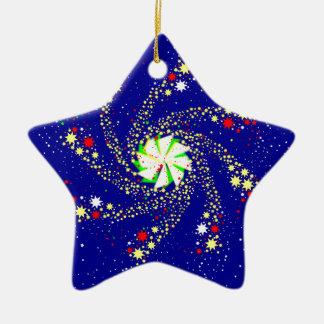 Pin Wheel Ceramic Star Decoration