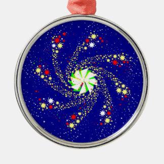 Pin Wheel Silver-Colored Round Decoration