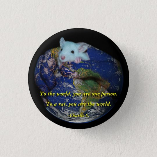 Pin: World Rat 3 Cm Round Badge