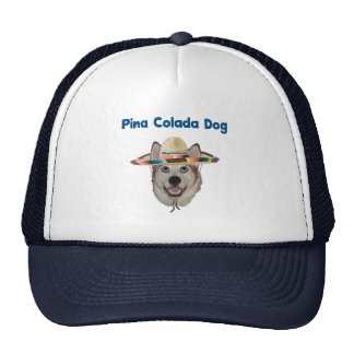 Pina Colada Beach Dog Trucker Hats