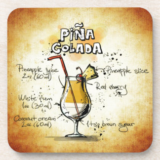 Pina Colada Cocktail Recipe Coaster