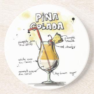 Pina Colada Drink Recipe Design Drink Coaster