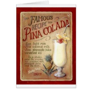 Pina colada recipe card