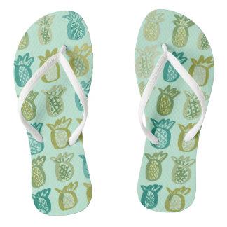 Pinapple Flip Flops