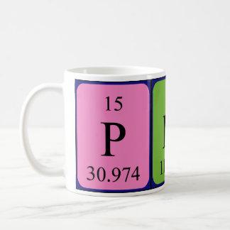 Pinar periodic table name mug