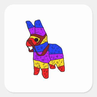 Piñata Cartoon Illustration.png Square Sticker