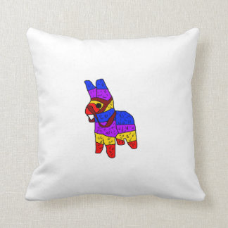 Piñata Cartoon Illustration Throw Pillow