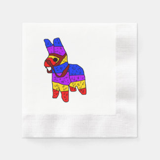Piñata Cartoon Mexico Fiesta Horse Disposable Serviette