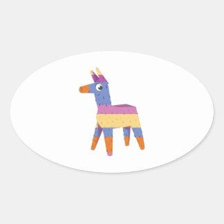 Pinata Donkey Oval Sticker