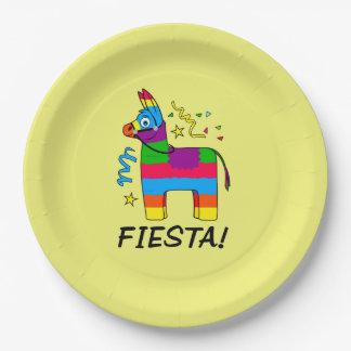 Pinata Fiesta Birthday Party Paper Plate