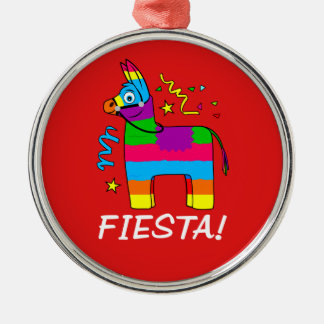 Pinata Fiesta! Silver-Colored Round Decoration