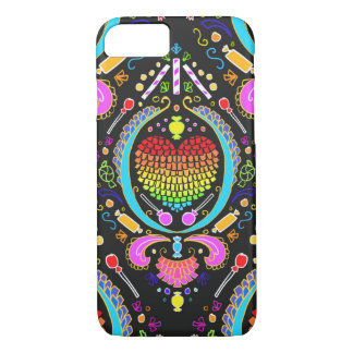 pinata heart damask iphone case