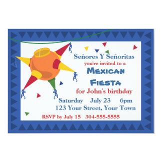 Pinata Mexican Fiesta Party 5x7 Paper Invitation Card
