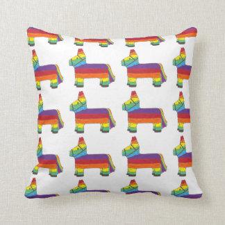 Piñata Rainbow Party Animal Mexican Fiesta Pride Cushion