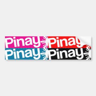 Pinay 4pack DIY Cutout Stickers Car Bumper Sticker