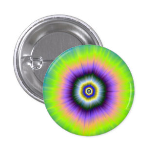 Pinback Button   Explosion in Yellow and Violet