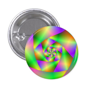 Pinback Button Psychedelic Spiral