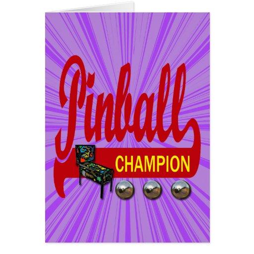 Pinball Champion Greeting Card
