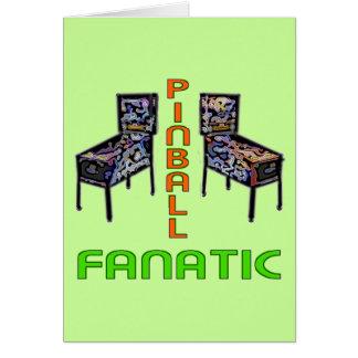Pinball Fanatic Greeting Card
