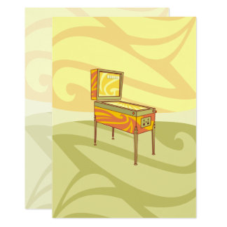 Pinball machine 13 cm x 18 cm invitation card