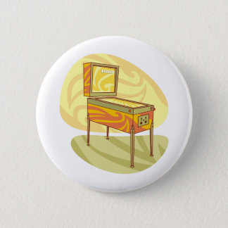 Pinball machine 6 cm round badge