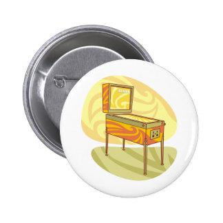 Pinball machine 6 cm round badge