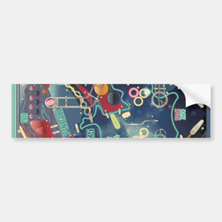 Pinball Machine Bumper Sticker