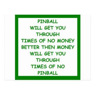 PINBALL POST CARDS