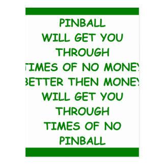 PINBALL POST CARD