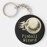 Pinball Wizard Basic Round Button Key Ring